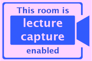 Lecture Capture Sign