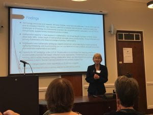 Jennie Goulding, presenting a talk at the CDS workshop on student success