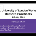 Screenshot of remote practicals presentation