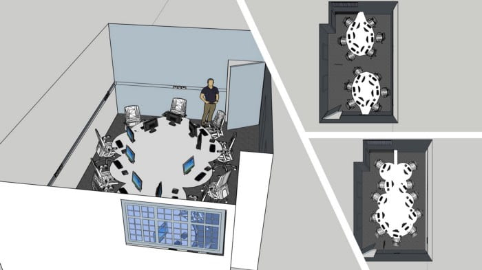 Early design ideas for AI lab