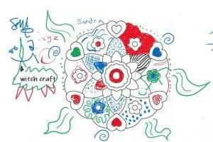 Coloured in Mandala