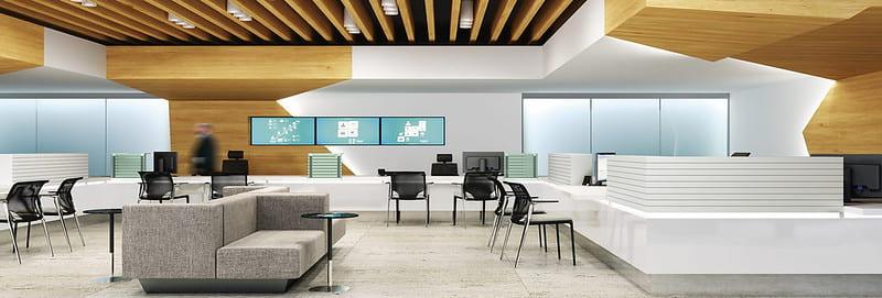 open plan office design