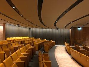 Seats in the auditorium