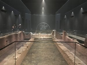 Archaeological remains of the temple of Mithras