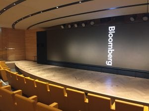 Stage in the auditorium