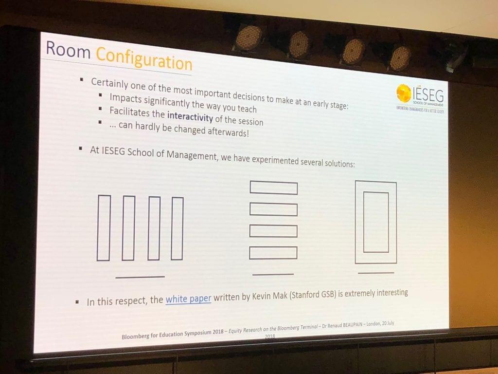 Presentation slide of Room Configuration models