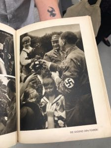 Photo of Hitler and children from a photo book.