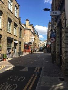 Rivington Street, near the Stuart Hall Library