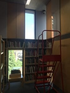 Interior of the Stuart Hall Library