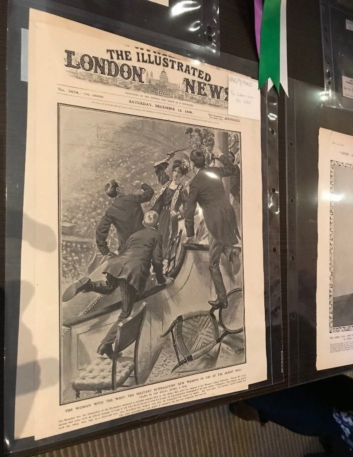 The front page from The Illustrated London News featuring a report on the whipping incident