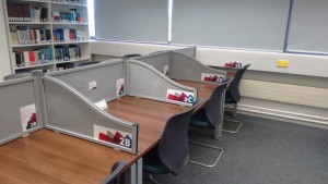 Some of the Bookable Silent Study Rooms waiting to be booked