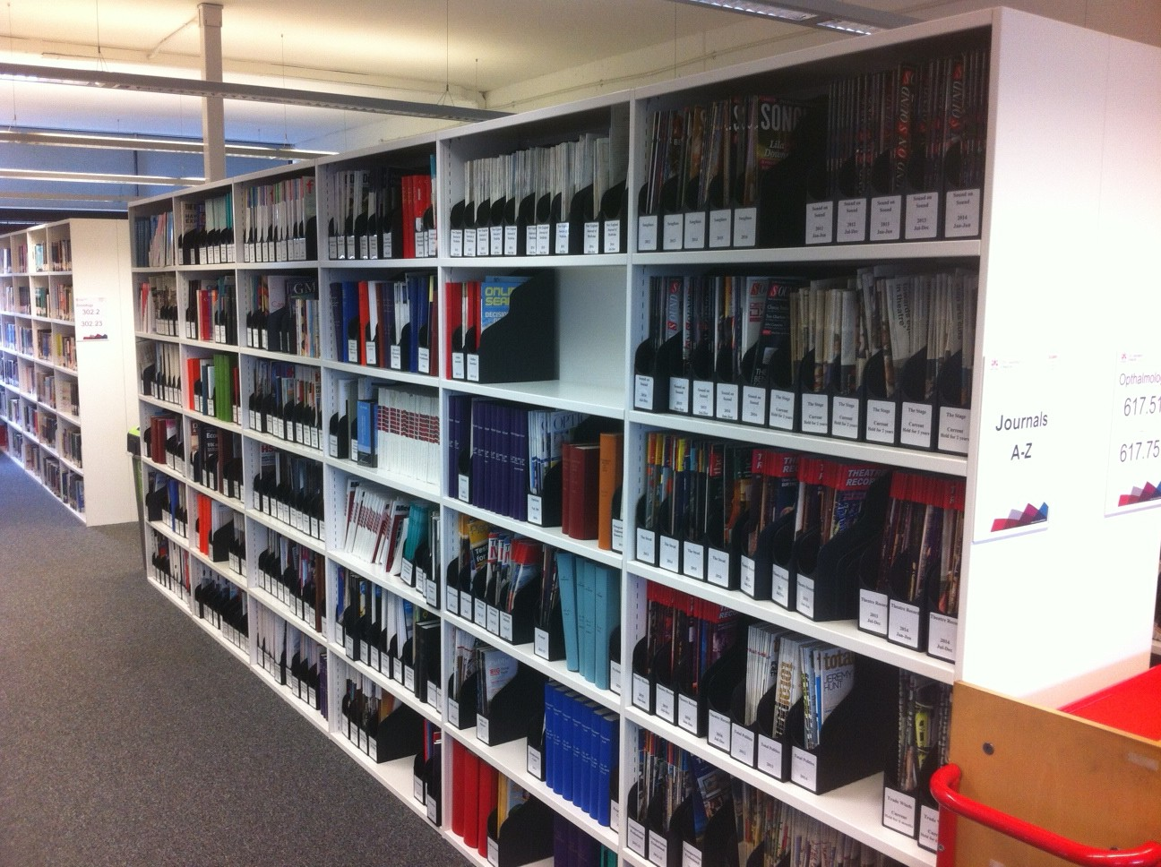 Our Print Journal Collection on Level 5