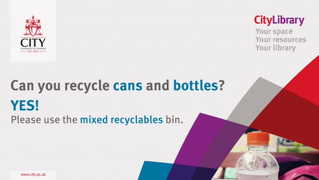 Can you recycle cans and bottles? Yes