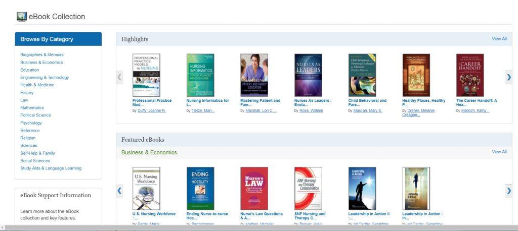 E-Books Screenshot