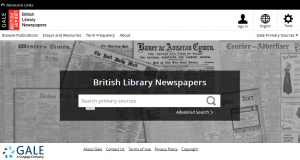 BL Newspaper search
