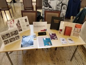 City, University of London History Day 2018 stall