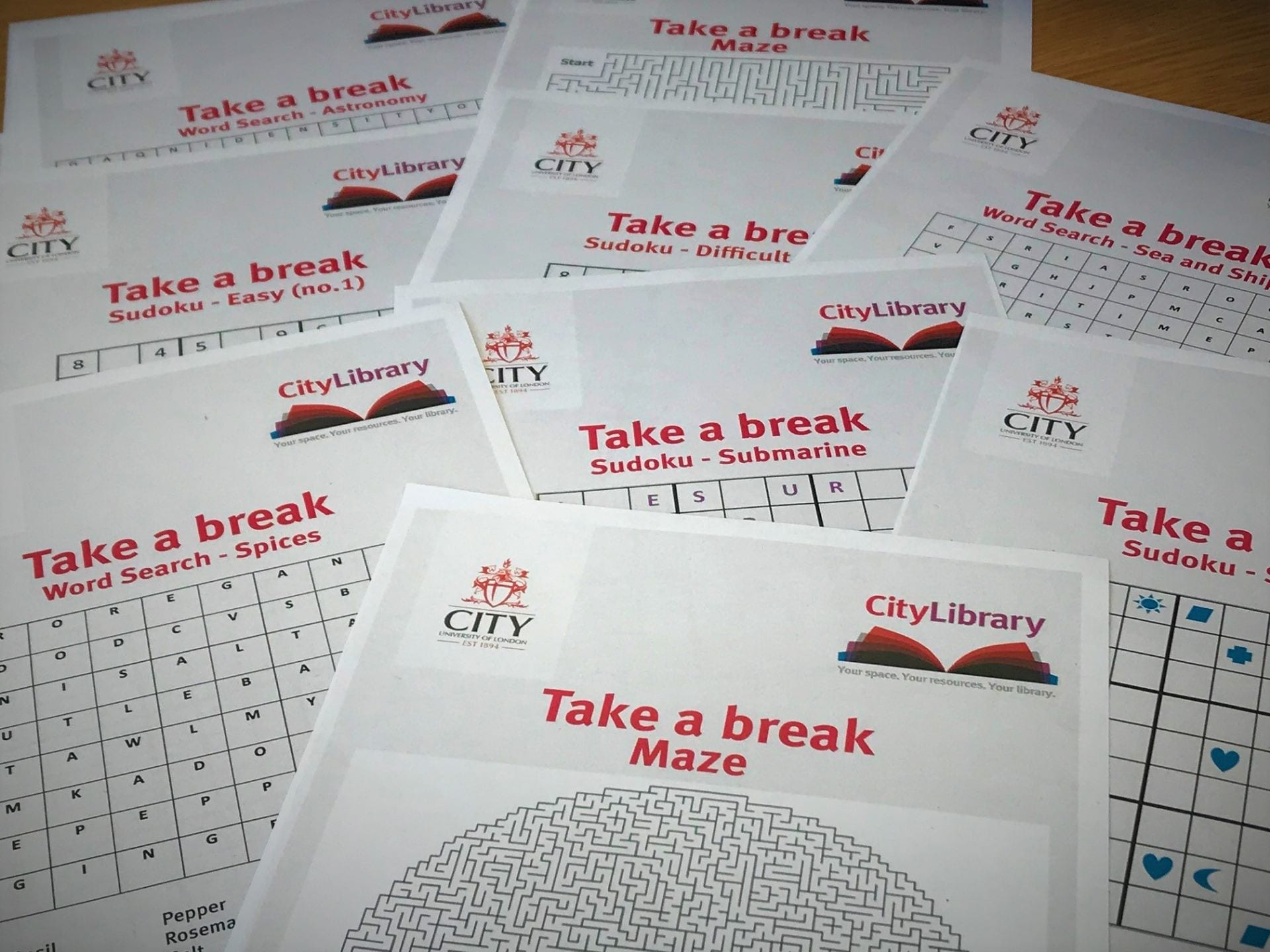 Image of puzzles and sudokus