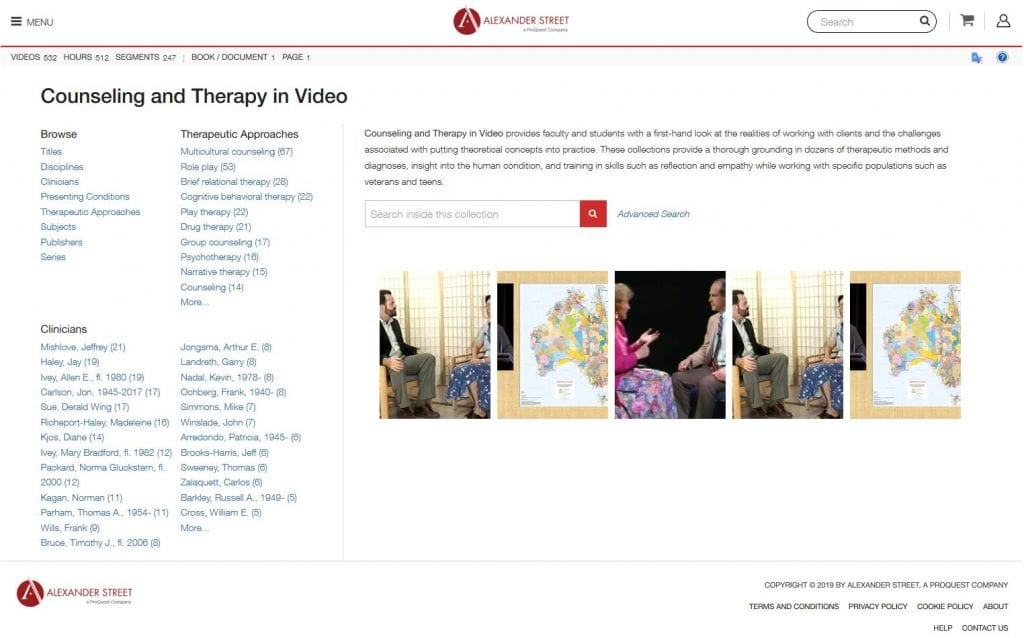 Screenshot of Counseling and Therapy in video