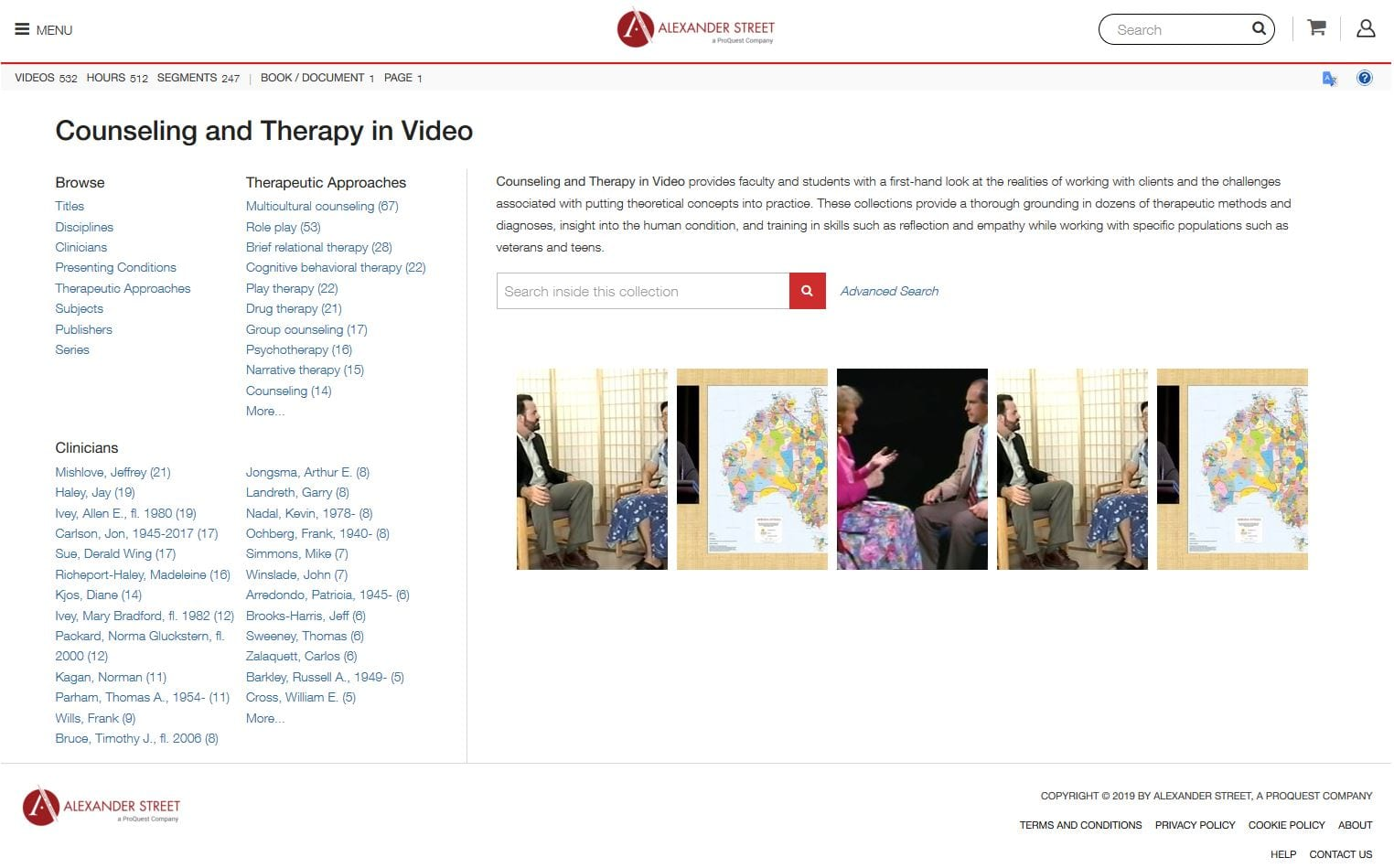 Counseling and Therapy in Video