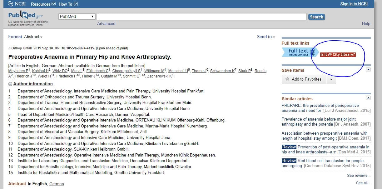 Improved access to full-text articles via PubMed