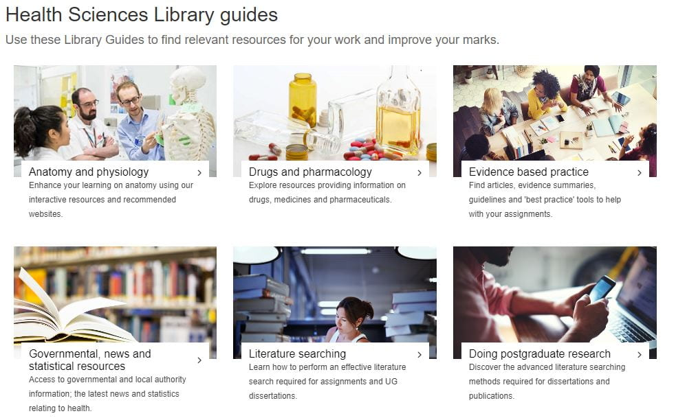 New and updated Library Guides for Health Sciences