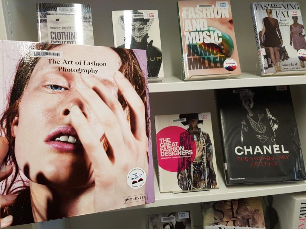 Fashion display at Northampton Square Library