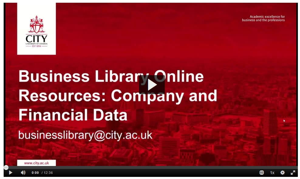 Business Library Online Resources: Company and Financial Data