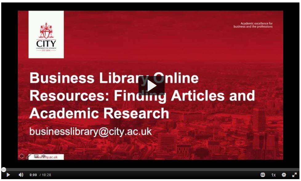 Business Library Online Resources: Finding articles and academic research