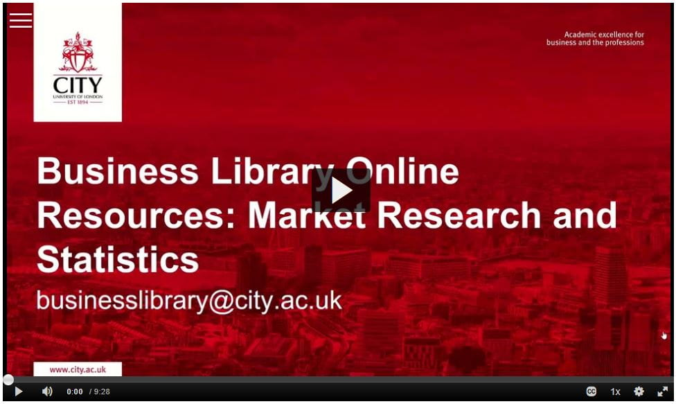 Business Library Online Resources: Market Research and Statistics
