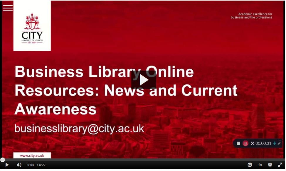 Business Library Online Resources: News and Current Awareness