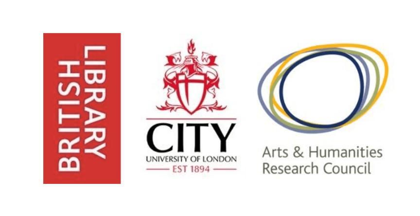 BL, City, AHRC CDP logos