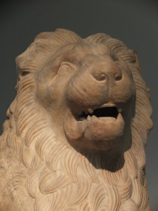 Lion from the Mausoleum, Marble, about 350 BC