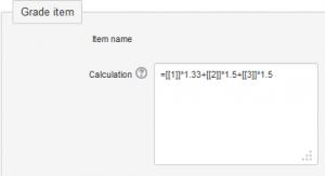 Calculated grade