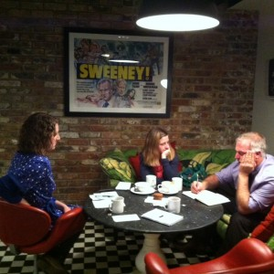 Lawrie Phipps meeting with Annemarie and Susannah