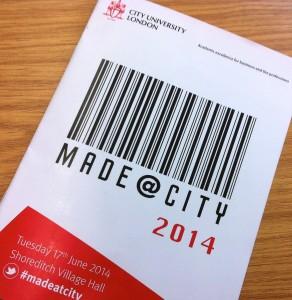 Made@City 2014 programme