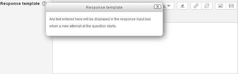 Response Template in Essay question in Quiz.