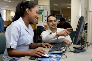 A Nurse Using eLearning