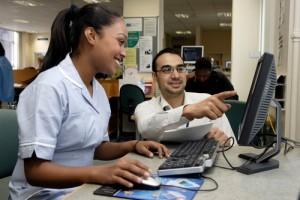 A Nurse Using eLearning