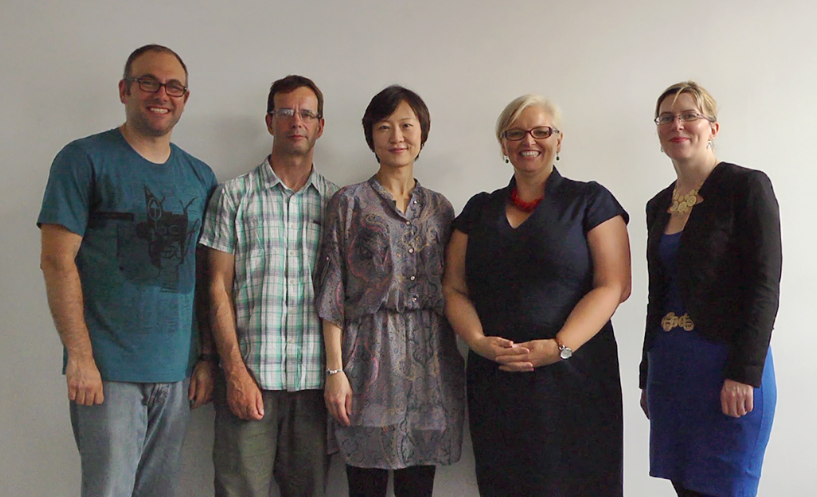 Moodle Induction Video filming team.