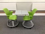 Node chairs configured for pair work