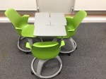 Node chairs configured for working in threes
