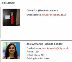 Module Leaders