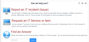 Request an IT Service or item