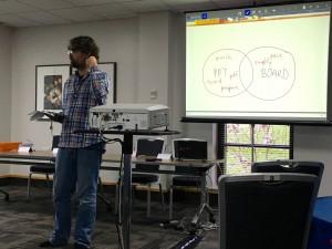 Dr Daniel Burgarth at HEA STEM 2016 (Dom Pates/City University CC-BY)