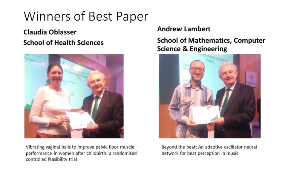 Winners of Best Paper