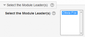Select Module Leader has its own setting under Settings>>Module settings>>Edit settings.