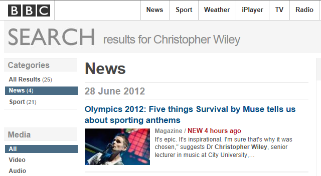 BBC News Website - Olympics 2012