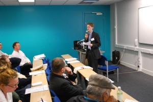 Dr Christopher Wiley addresses 'Learning at City' Conference