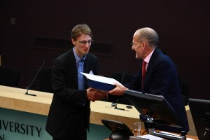 Dr Christopher Wiley receives University Student Voice Award 2012