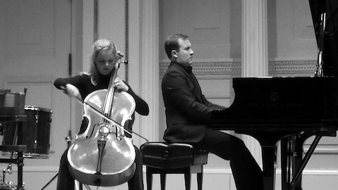 Ben and Anzél at Carnegie Hall